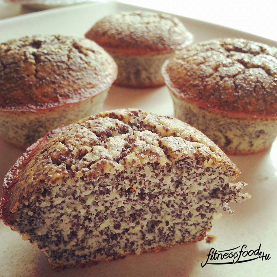 Low Carb Mohn Muffins Fitnessfood4u